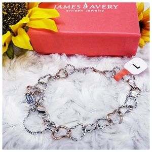 James Avery Connected Hearts Charm Bracelet,  New